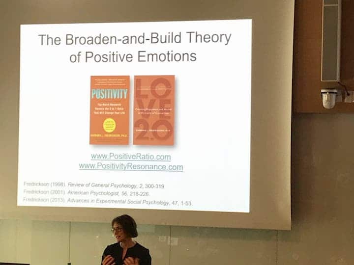 Barbara Frederickson at the Summit on Happiness Science